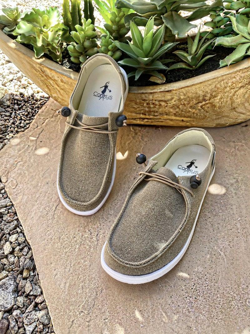 Corkys Finley Khaki Slipon Sneaker