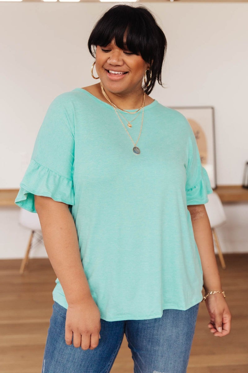 Twisted Luck Top in Mint