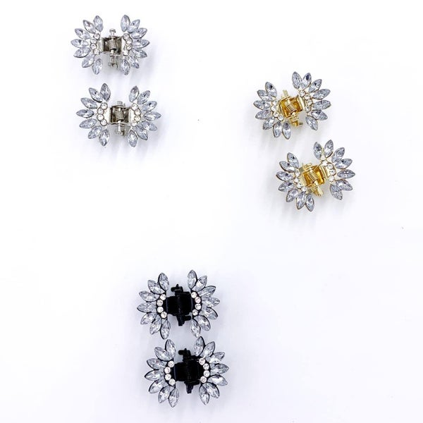 Twin Crystal Clips