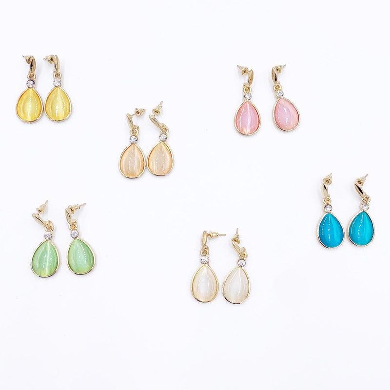 Opal Tear Drop Earrings