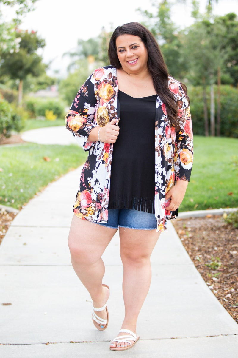 Swooning Open Face Kimono
