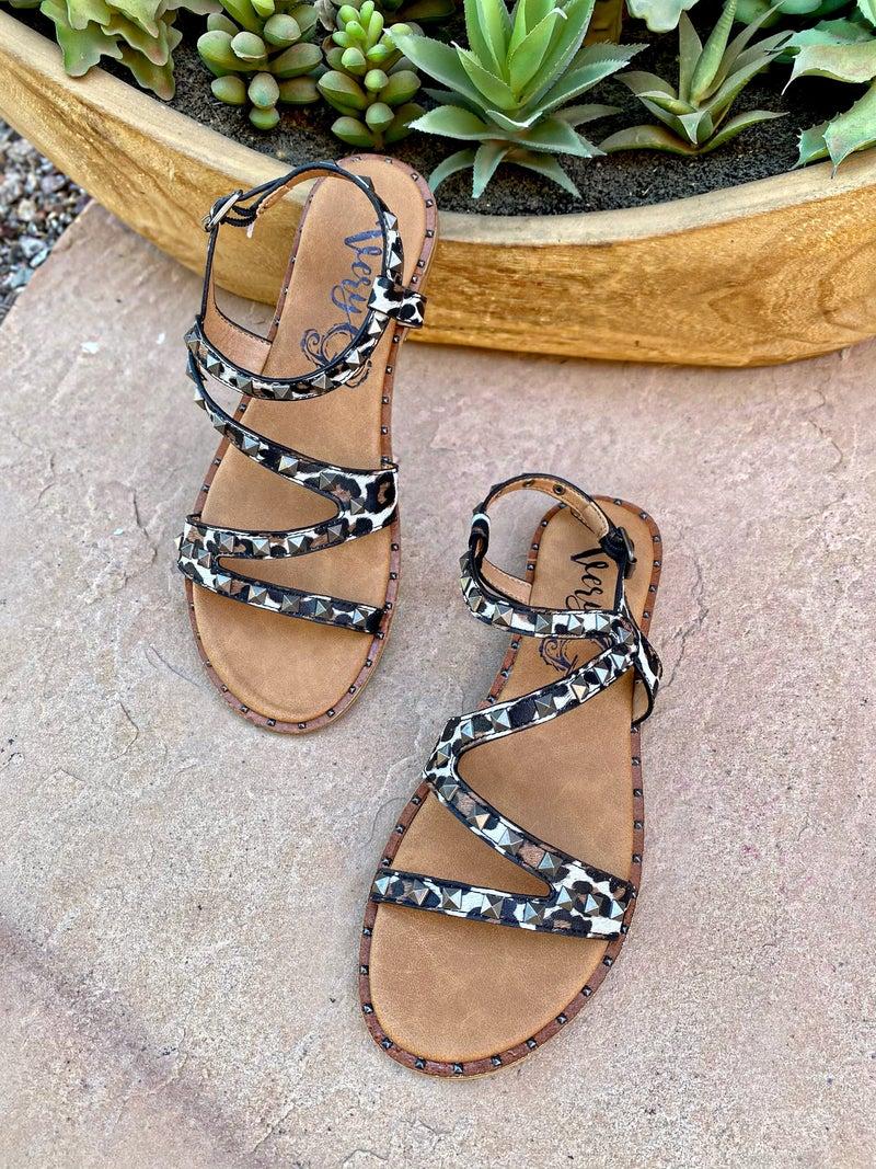 Very G Athena Leopard Studded Sandal