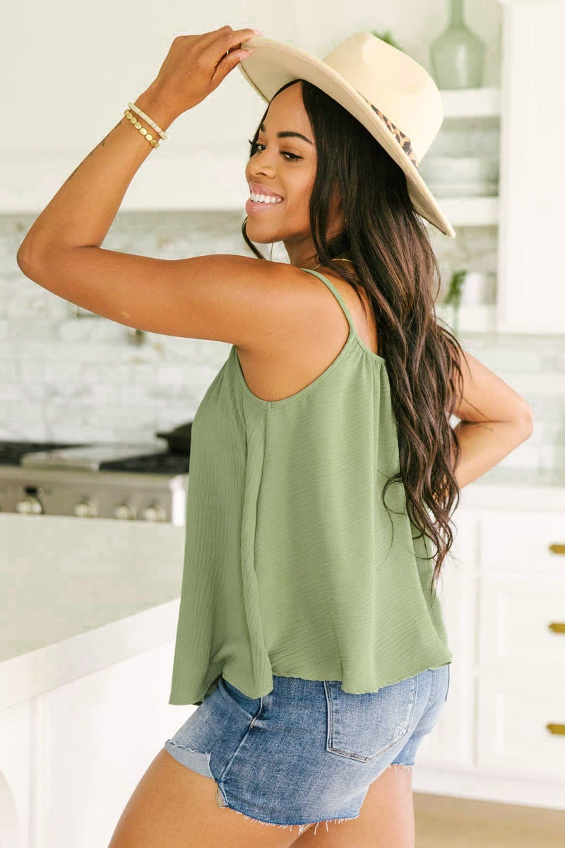 I Said Forever Tank in Olive