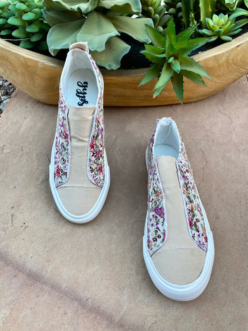 Gypsy Jazz Double Sided Floral Sneaker