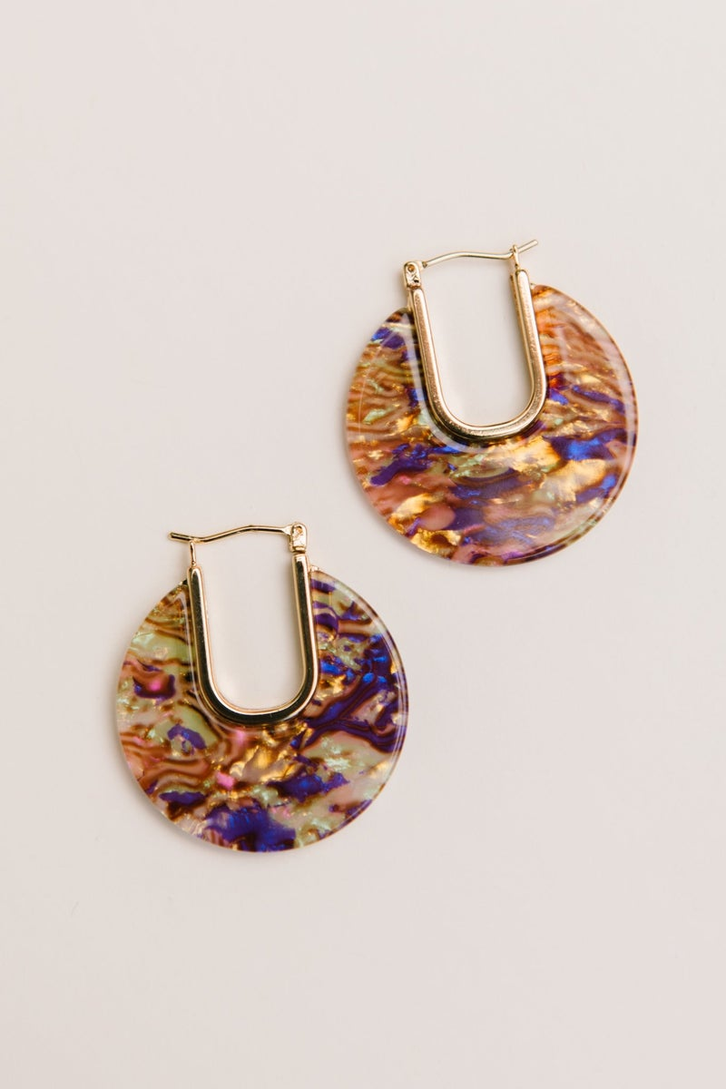 Wave of Color Earrings