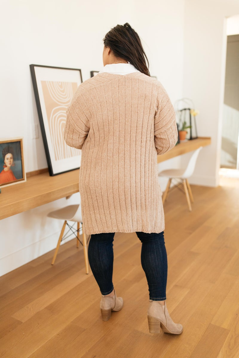 Sunday Morning Cardigan in Almond