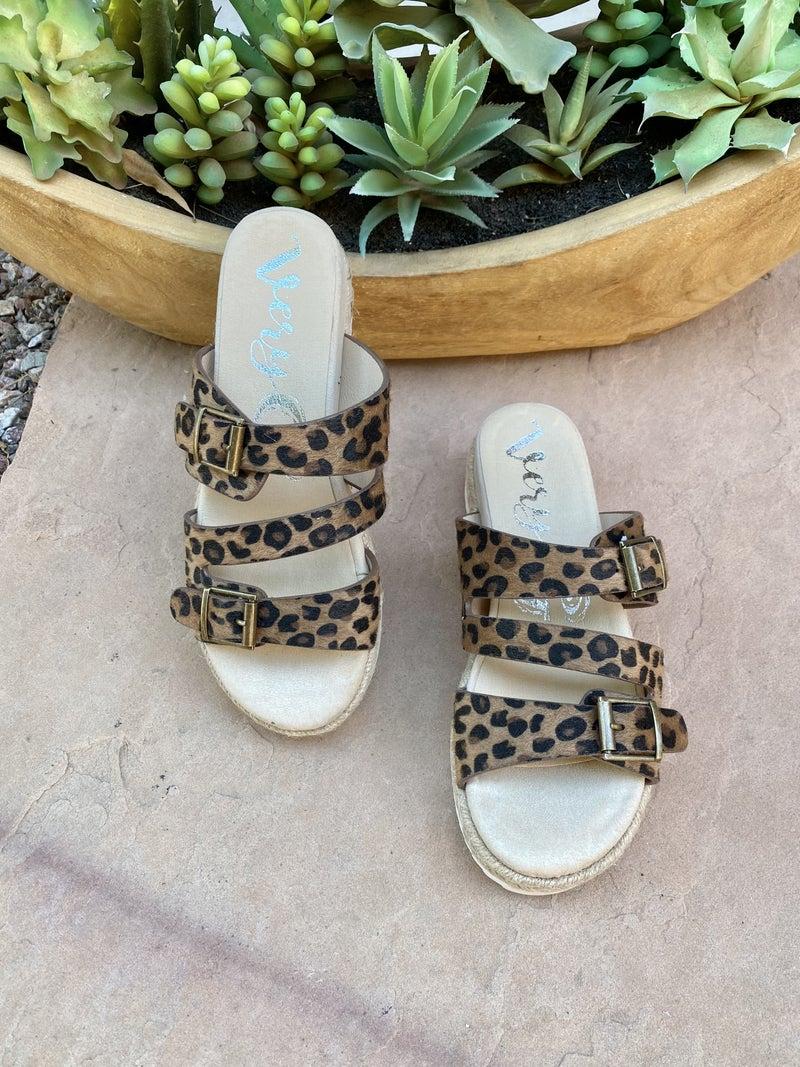 Very G Travel Leopard Platform Sandal