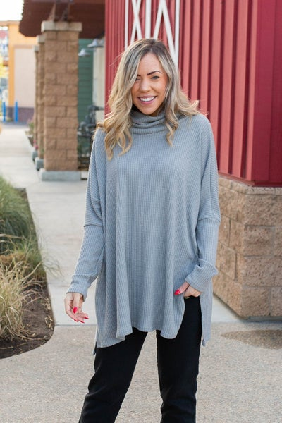 Weather This Together Waffle Knit Top