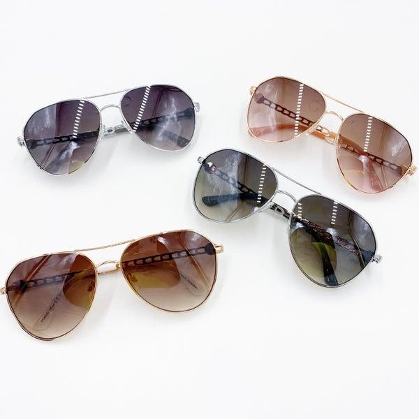 Aviator Chain Sunglasses