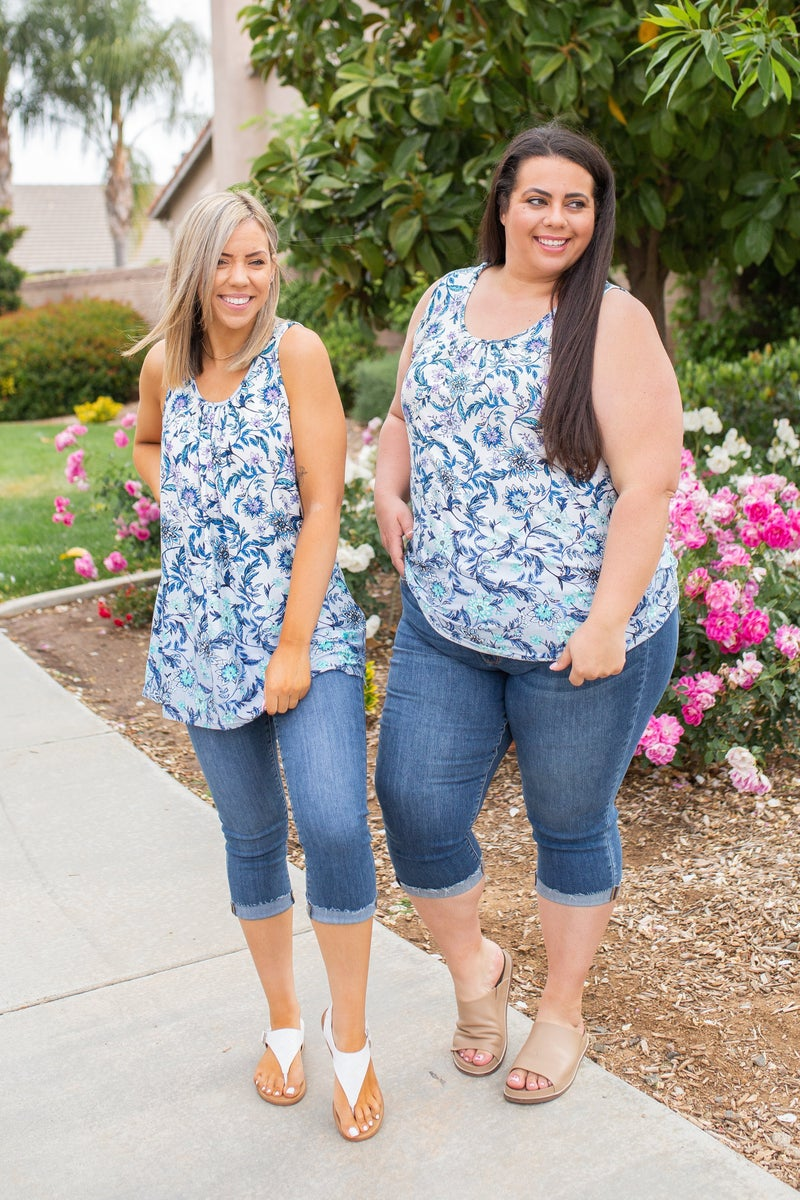 Ombre Floral Sleeveless Top