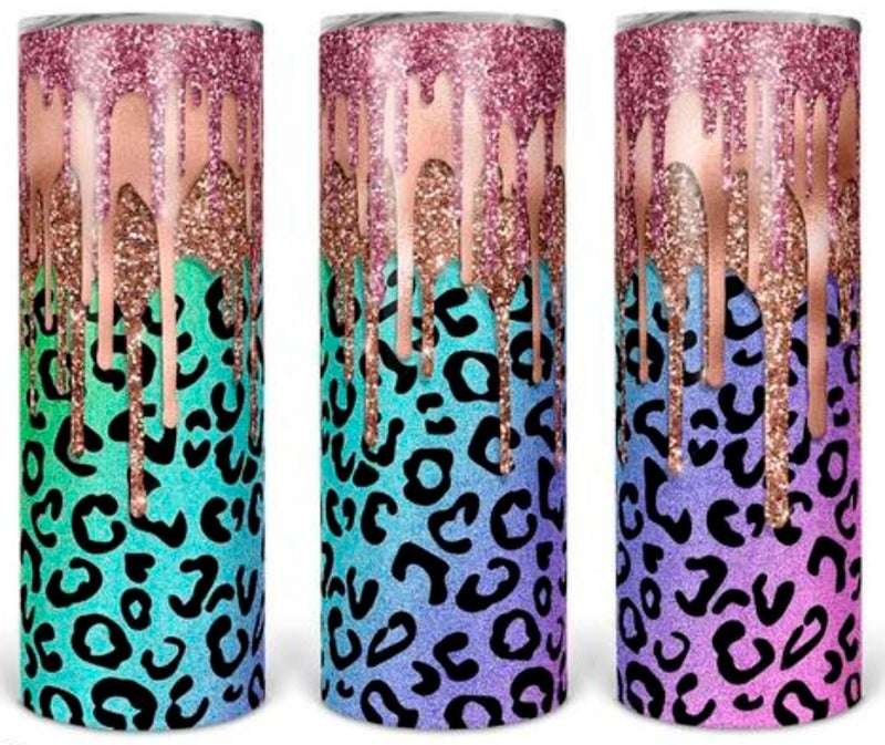 Cheetah Glitter 20oz Tumbler