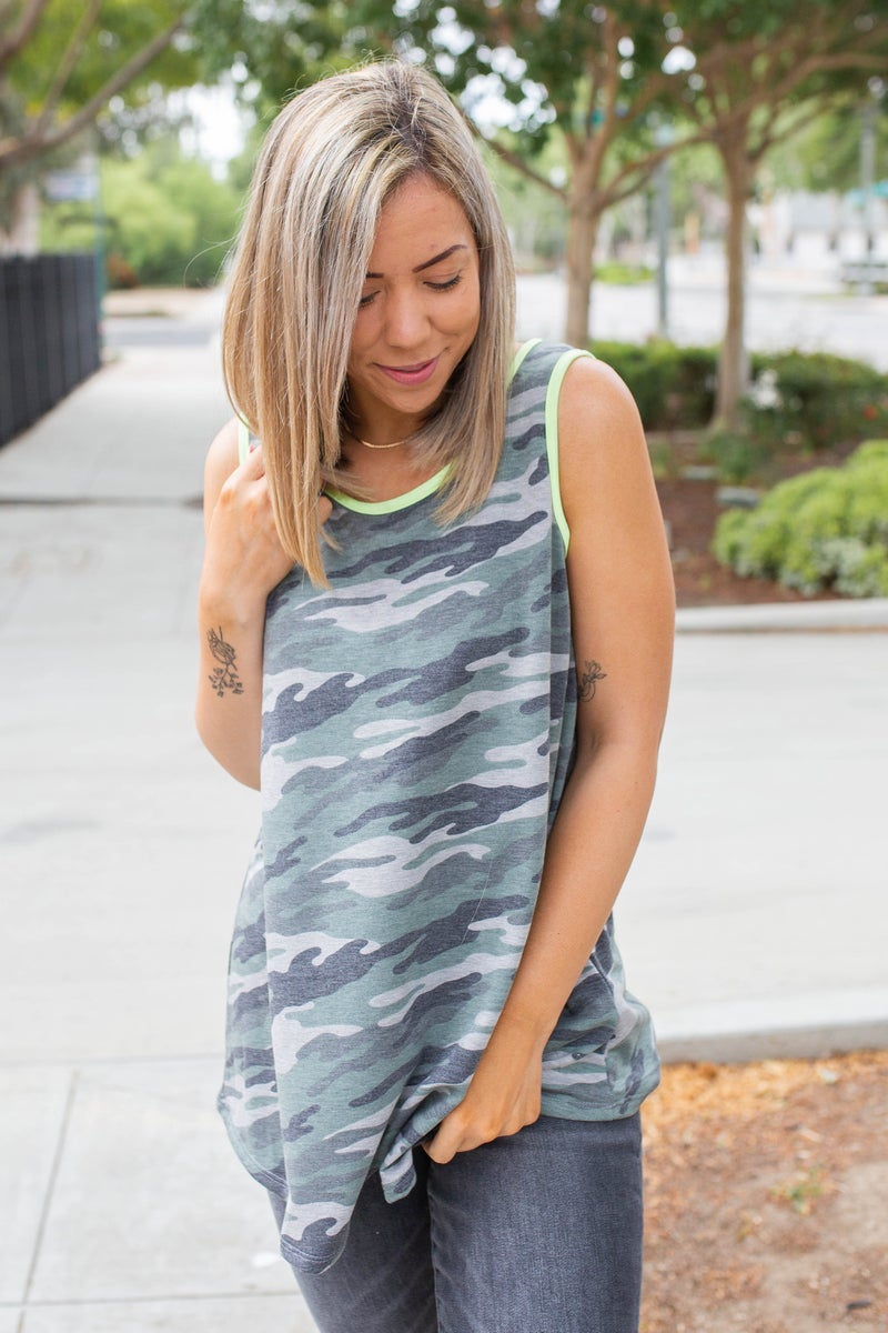 Disguised with Neon Sleeveless Top