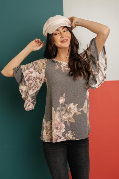 The Flirty Sleeve Floral Blouse
