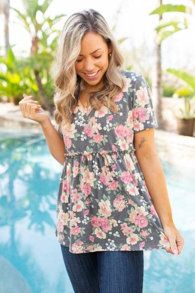 Flirty Floral Short Sleeve Top