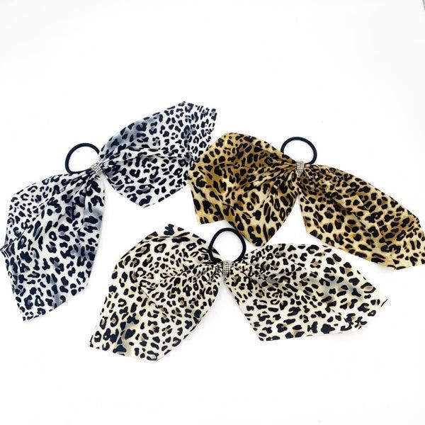 Cheetah Bow Hair Tie