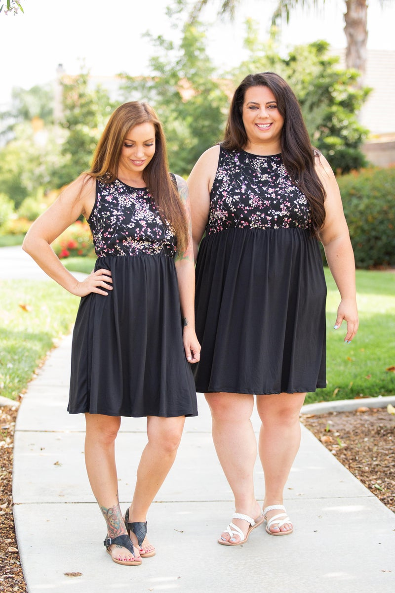 Midnight Gardens Sleeveless Dress