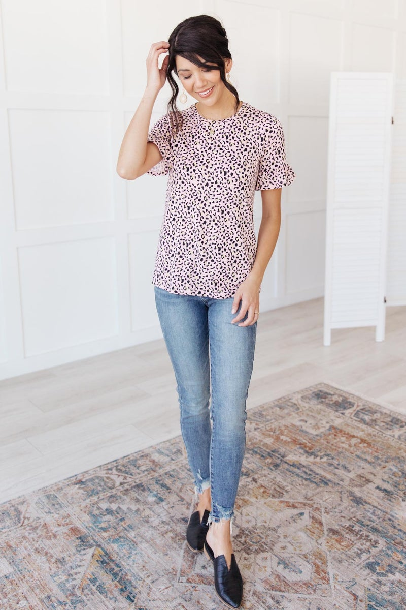 Spotted in Pink Animal Print Top
