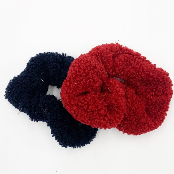 Sheep Fuzz Scrunchie 2 Pack