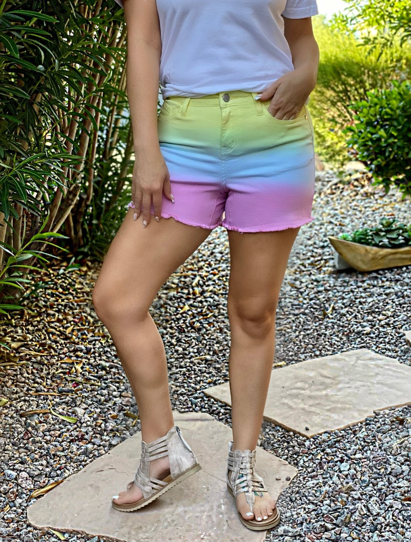 Judy Blue Kyle Dip Dyed Cut Off Shorts