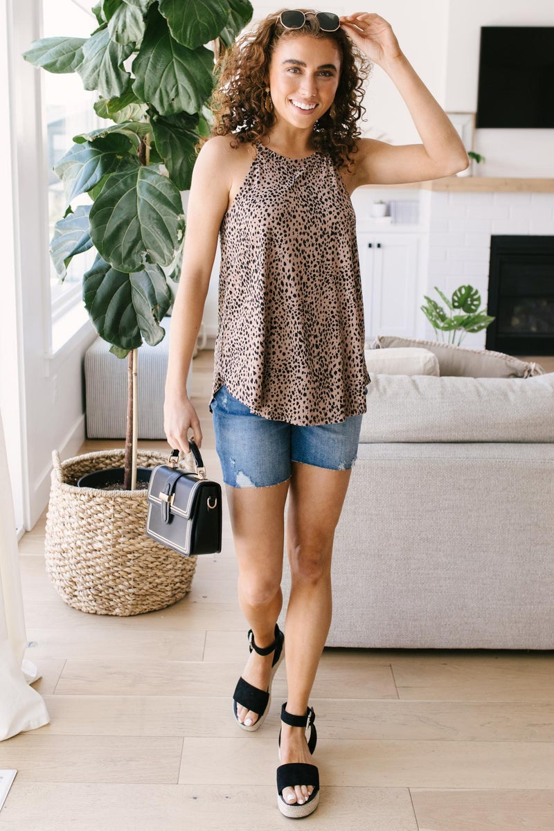 Sprinkled With Animal Print Top