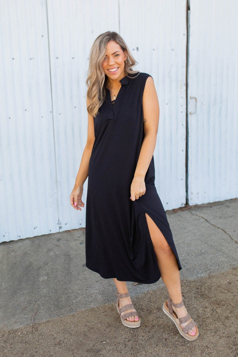 Sleeveless Black Gabby Dress