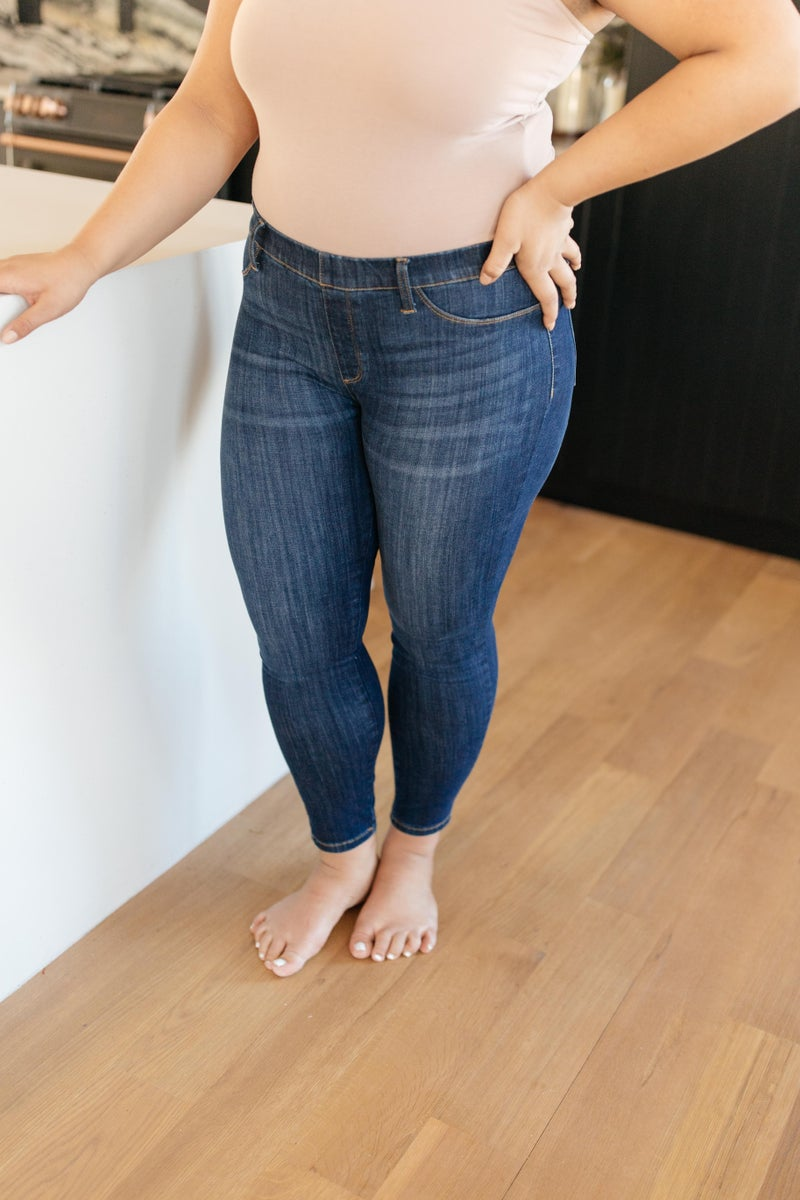 Just In Time Dark Wash Jeggings