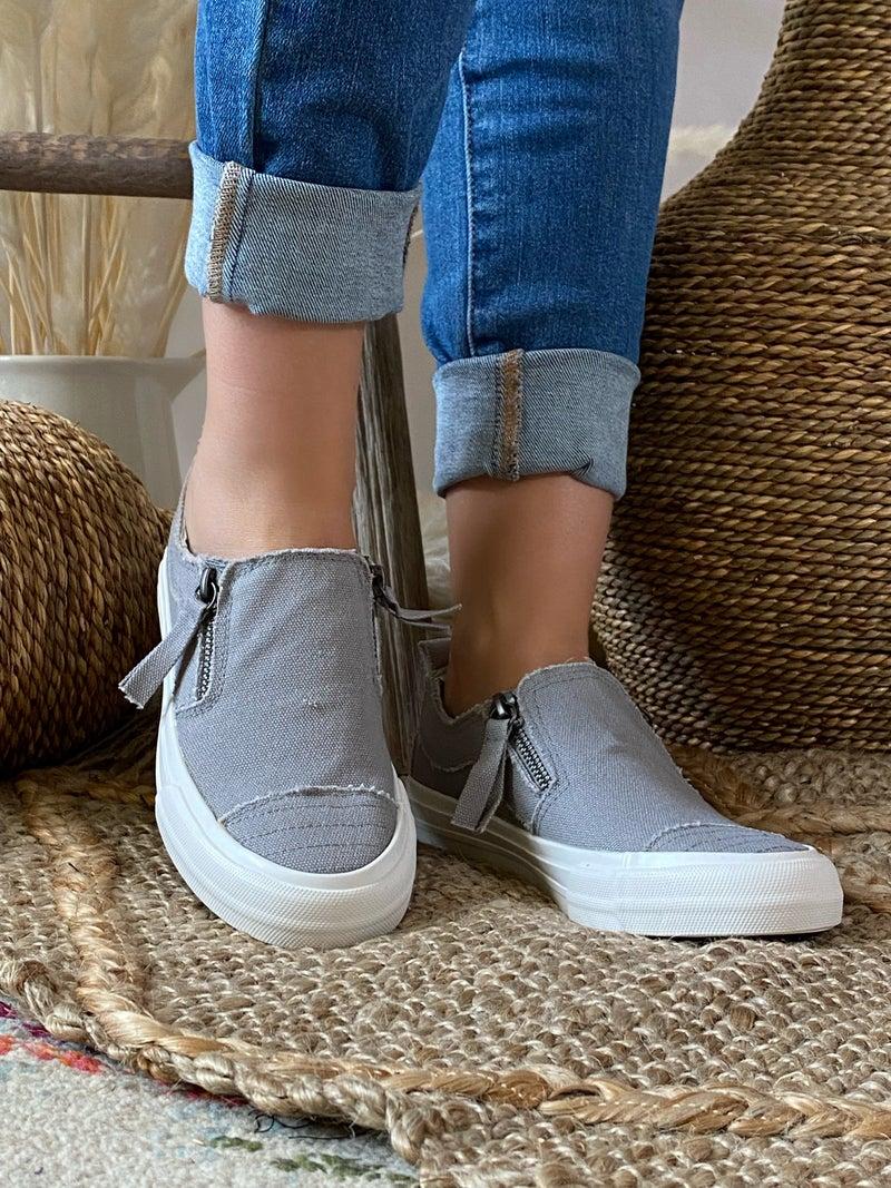 Gypsy Jazz Grey Zippy Sneaker