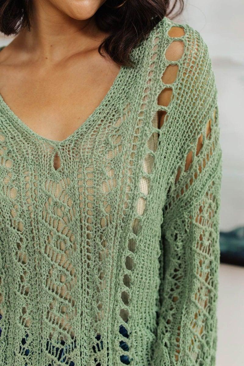 Show Me Sea Foam Sweater