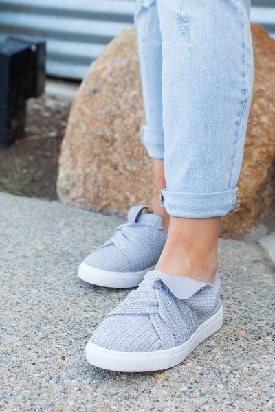 Top Knot Slip On Sneakers - Grey