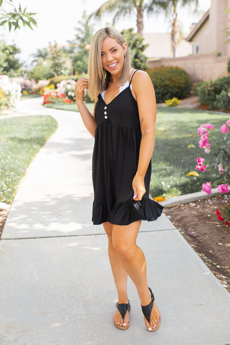 Krista Tunic Dress in Black