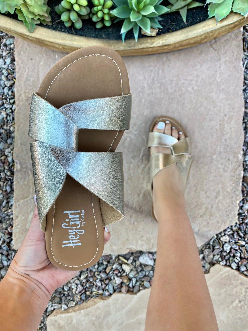 Corky's Scuba Sandal in Gold