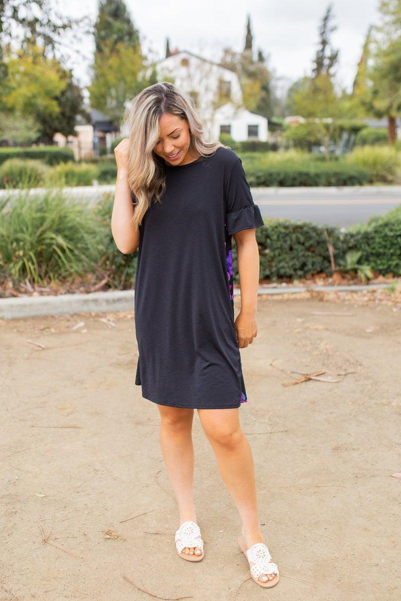 Double Take Ruffle Sleeve Dress