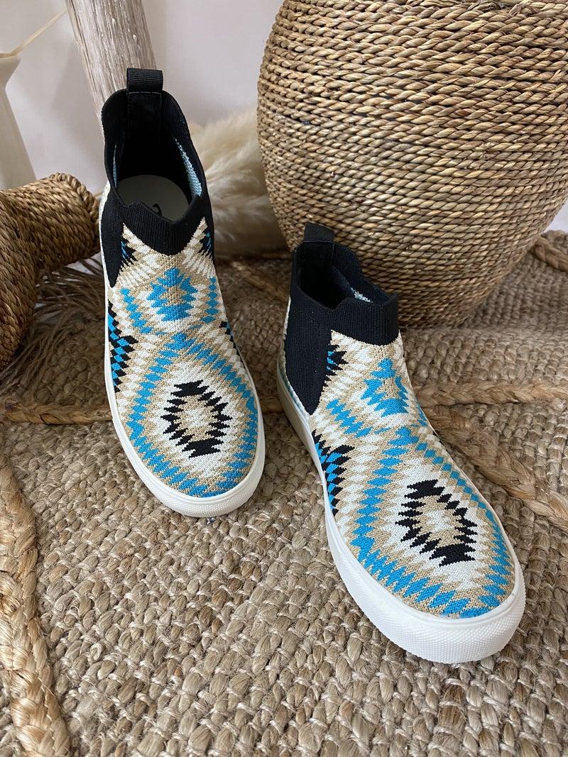 Very G Bess Slip-On Sneaker in Turquoise Aztec