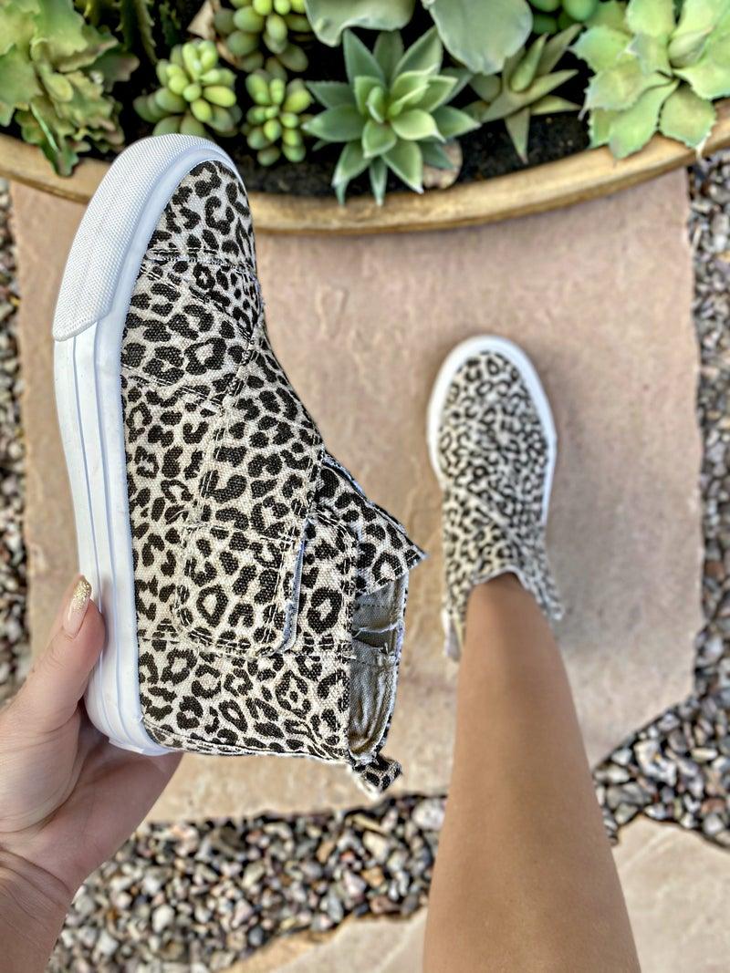 "Gypsy Jazz Cream Leopard ""Florence"" Sneakers"