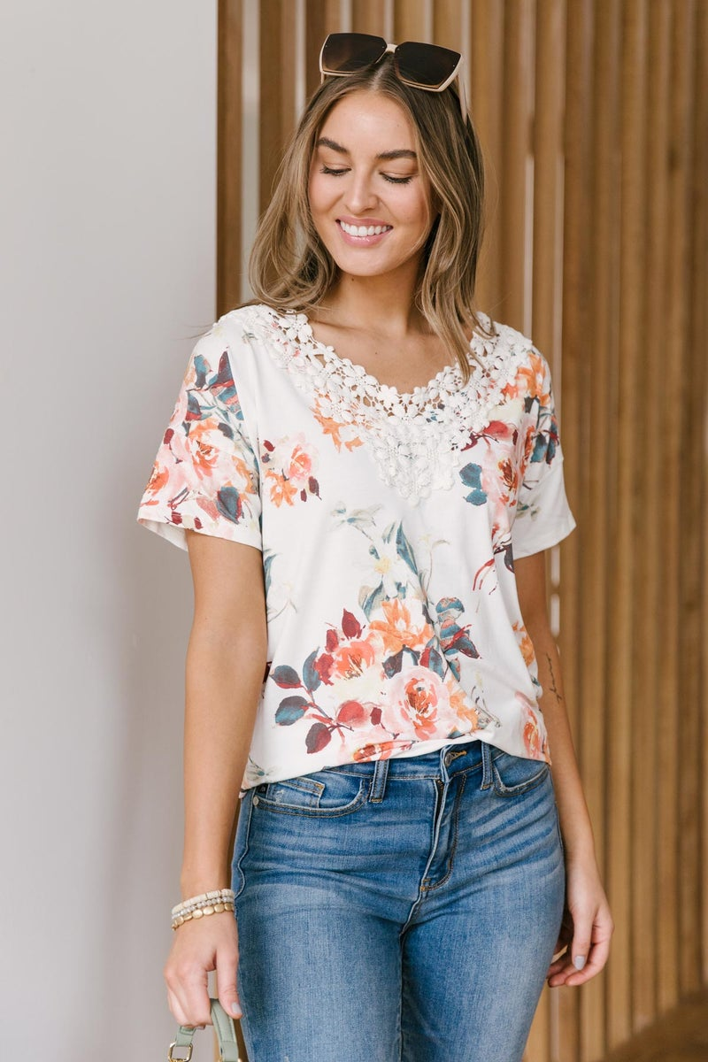 Lacey V-Neck Top