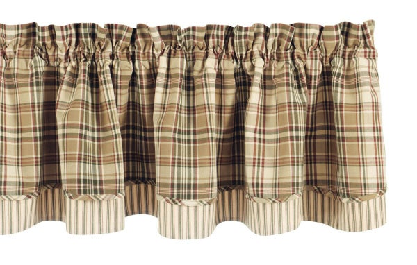 Thyme Lined Layered Valance