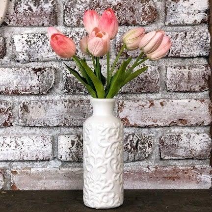 White Bud Vase- Medium