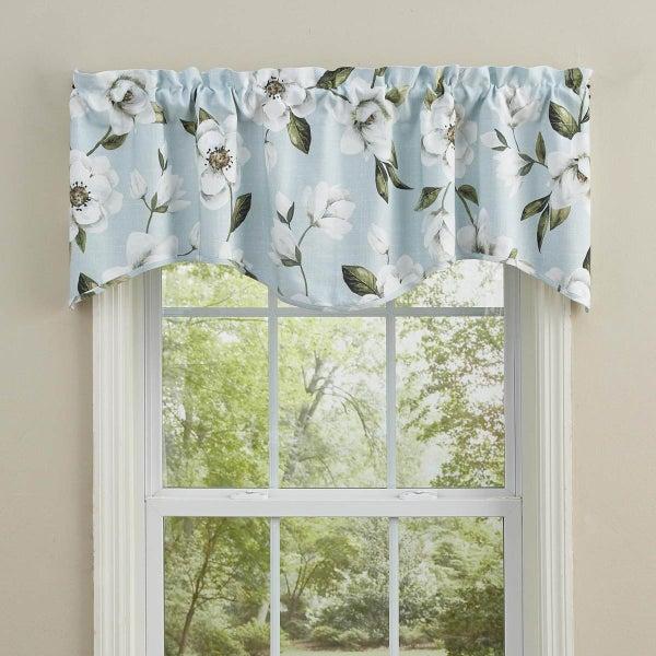 Magnolia Floral Wave Valance