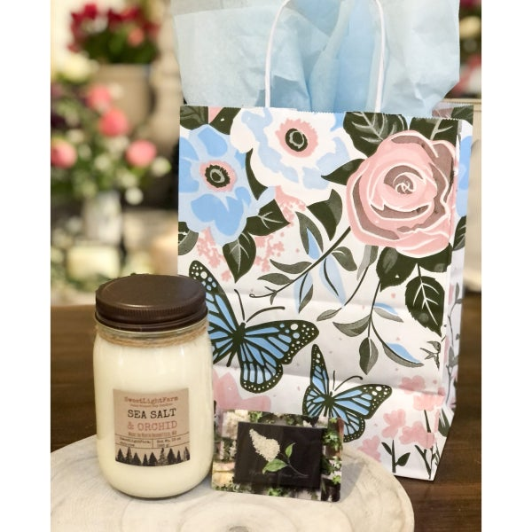 Mother's Day Candle and $50 Gift Card Set