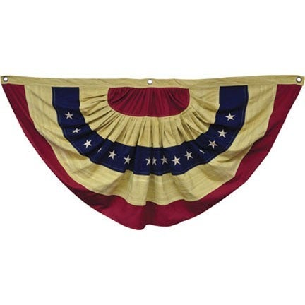 """Aged Tea Stained Cotton Bunting Flag 55"""""""