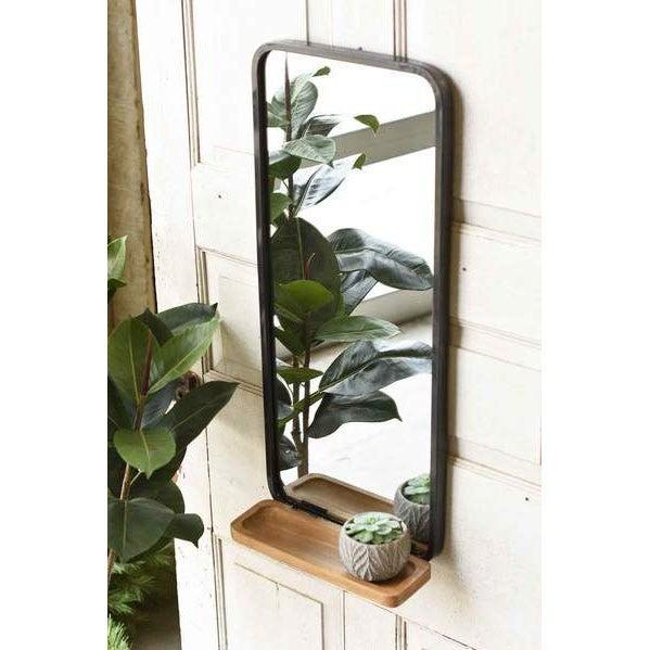 Craftsman Mirror with Shelf
