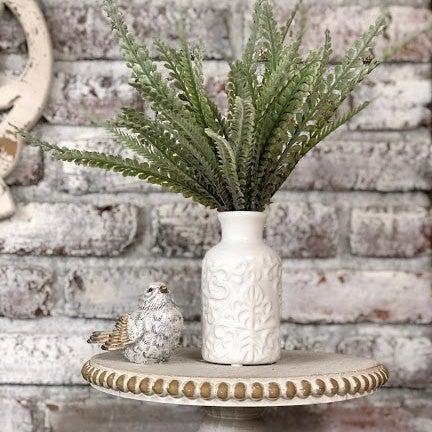 "White Bud Vase- Small 5.5"" H"