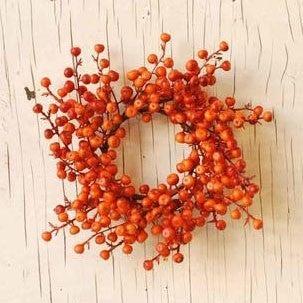 "3.5"" Matte Orange Cranberries Candle Ring"