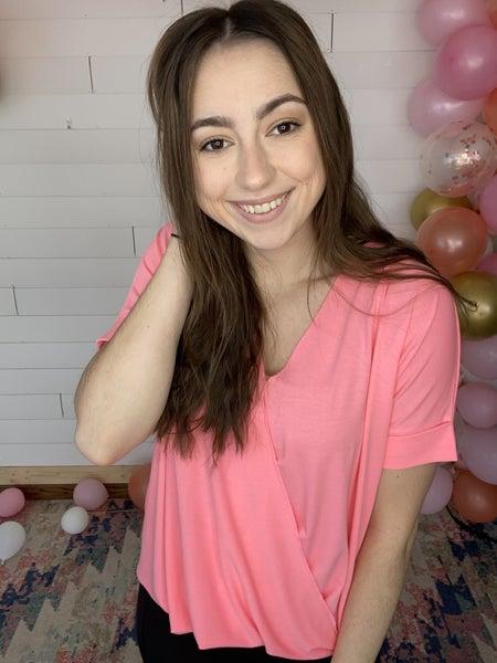 Ramona - Bright Pink Surplus Top