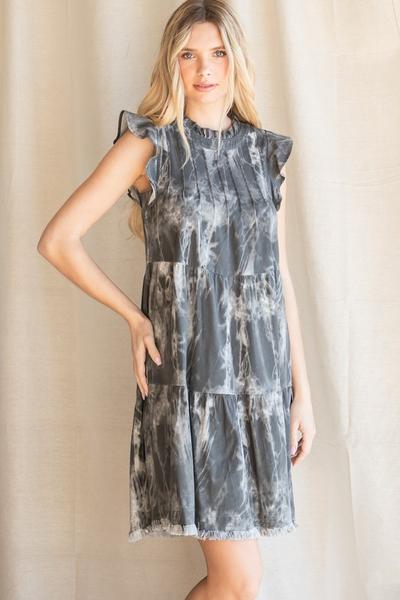 Charcoal Washed Denim Dress