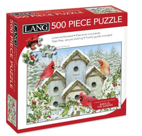 Cardinal Birdhouse 500 Pc Puzzle