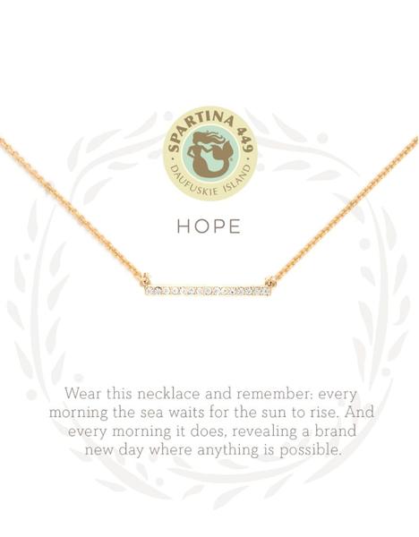 Sea La Vie Hope Necklace Gold