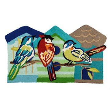 Hooked Rug Shaped Colorful Birds ***Local Pickup Only***