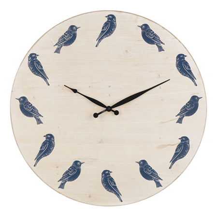 Blue & White Bird Wall Clock ***Local Pickup Only***