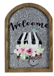 Metal Wall Sign Welcome ***Local Pickup Only***